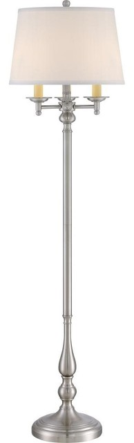 Quoizel Vivid Collection Kingsley Floor Lamp, Brushed Nickel.