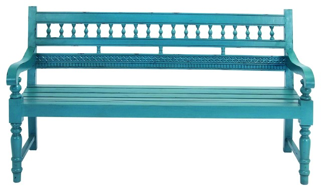 Turquoise Blue St James Garden Bench Beach Style
