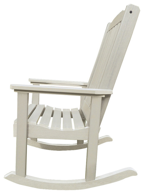 Charleston Outdoor Rocking Chair, Whitewash.