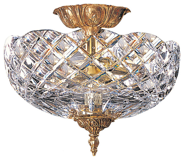Crystorama Lighting 67-Ct-Ob Richmond Traditional Semi Flush Mount Ceiling Light.