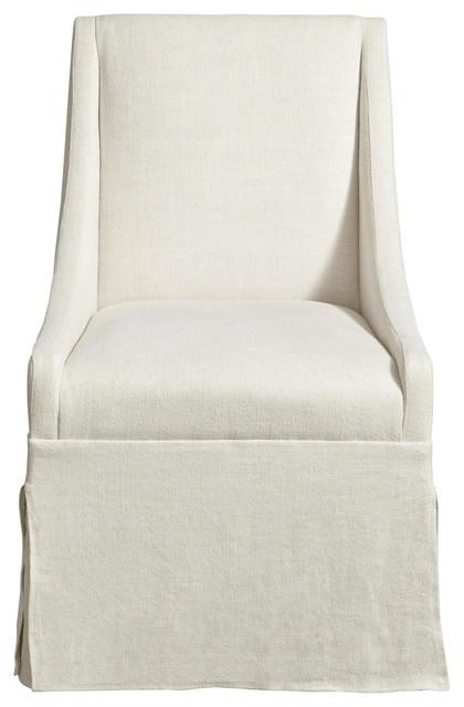 Prime Townsend Belgian Linen Upholstered Skirted Dining Chair Ibusinesslaw Wood Chair Design Ideas Ibusinesslaworg