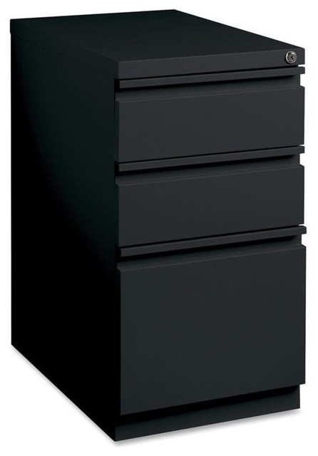 Lorell Light Gray B/B/F Full Extension Mobile Pedestal Files - Filing Cabinets - by Homesquare