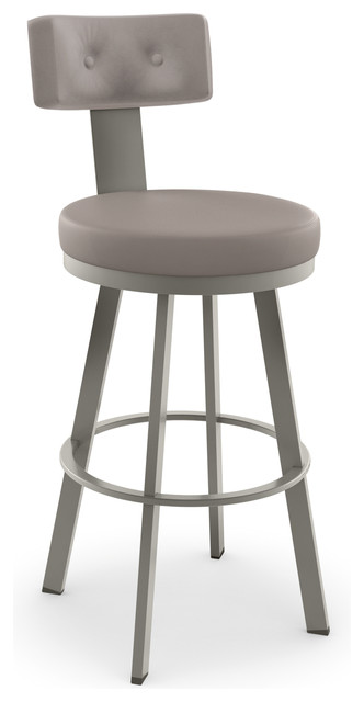 Remarkable Tower Swivel Stool Base Titanium Matte Light Gray Counter Height Seat Warm Evergreenethics Interior Chair Design Evergreenethicsorg