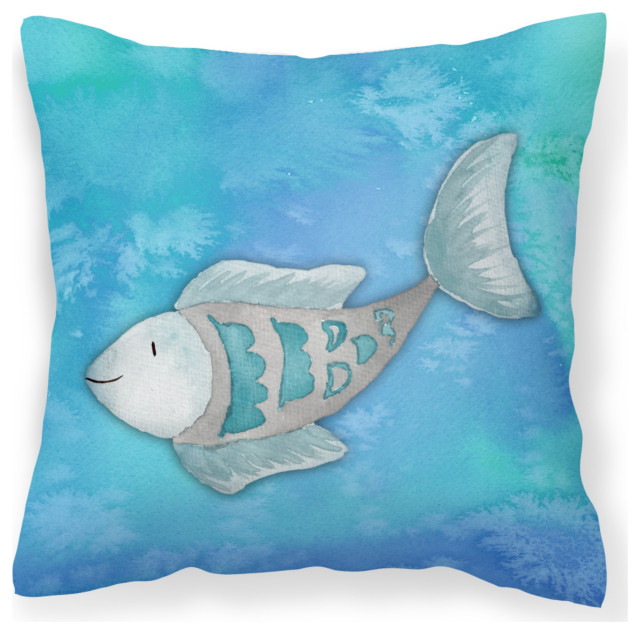 Watercolor Outdoor Canvas Pillow 14 X14 Beach Style Outdoor Cushions And Pillows By The Store