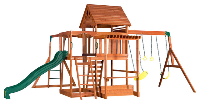 backyard discovery monticello all cedar wood playset contemporary kids