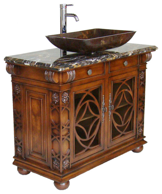 "Bathroom Vanities With Vessel Sinks 42"" gorgeous vigo vessel sink bathroom vanityhf1217gf - victorian"