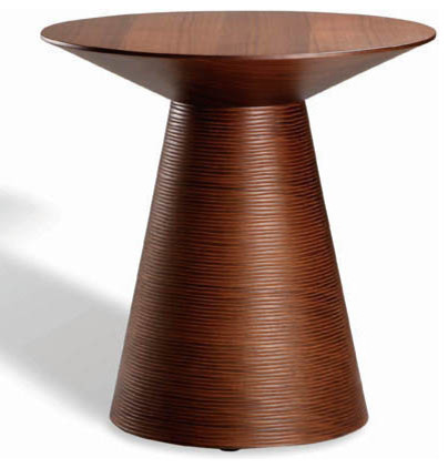 Anika Side Table, Tan Walnut