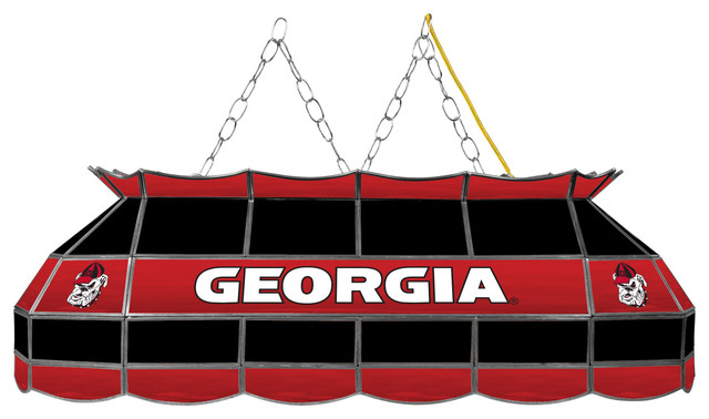 University of Georgia 40quot Handmade Tiffany Style Lamp  : traditional pool table lights from www.houzz.com size 640 x 378 jpeg 55kB