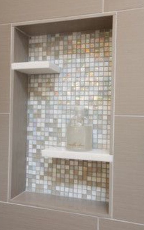 Floating Shelf In Shower Niche