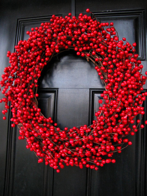 Decadent Extra-Large Cranberry Wreath by The Wright Wreath
