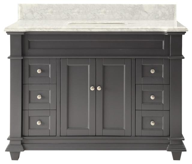 48 Kerianne Bathroom Sink Vanity Cabinet Model Hf-1084ck-Bs, Carrara/gray.