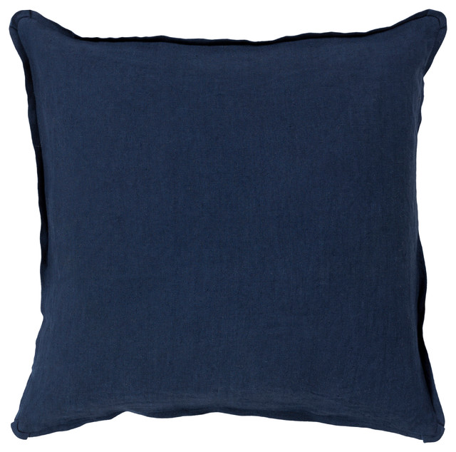 Surya Solid 20x20x0.25 Navy Pillow Cover.