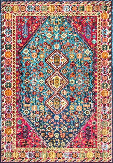 Nuloom Traditional Vibrant Meadow Area Rug, Multi, 7&x27;10x11&x27;.