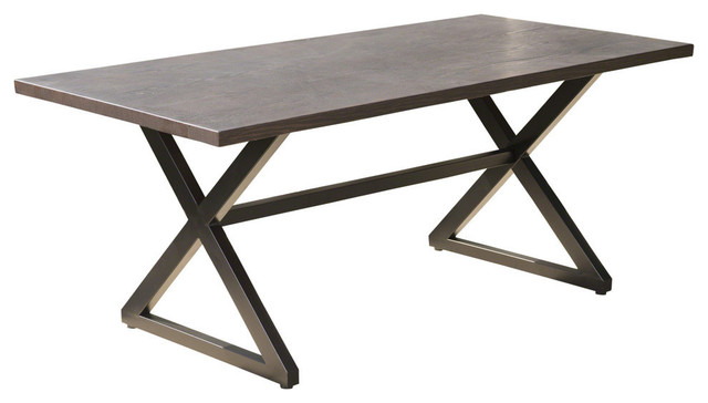 Gdfstudio Gdf Studio Rosarito Outdoor Aluminum Dining Table With