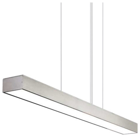 Tech Lighting Knox Linear Suspension Island Light Black Modern - Linear kitchen island lighting