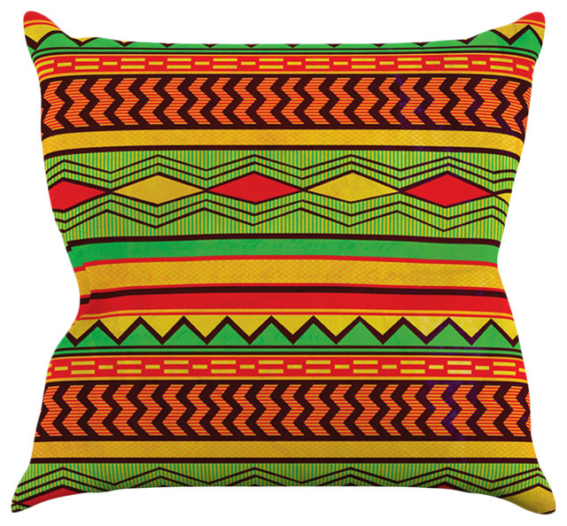 Louise Machado Egyptian Red Orange Throw Pillow Contemporary Cool Orange And Teal Decorative Pillows