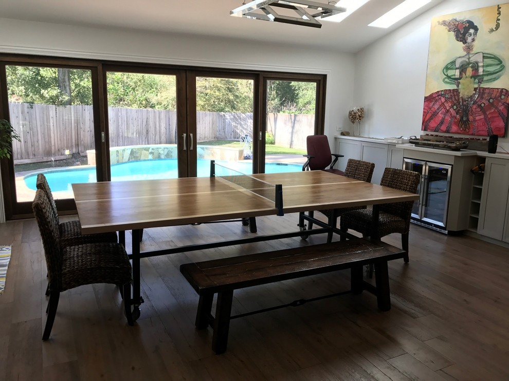 Dining Table Knotty Alder with Maple Frame