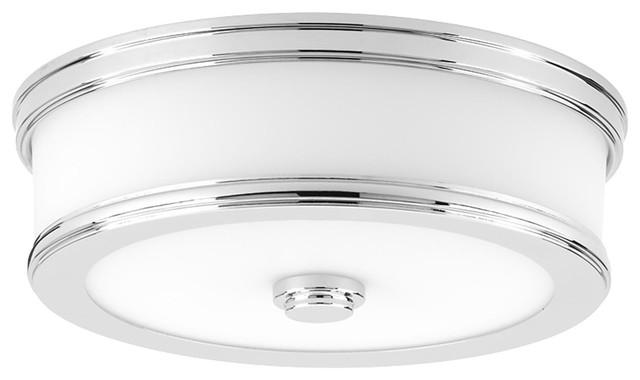 Bezel Led 1-Light Flush Mounts, Polished Chrome.