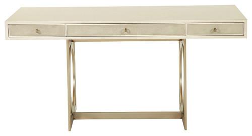 Oriana Modern Alabaster Faux Shagreen Desk