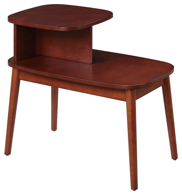 Mid Century End Table, Mahogany.
