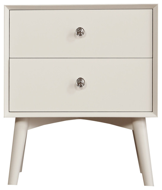 Emerald Home Home Decor 1 Drawer Nightstand, White
