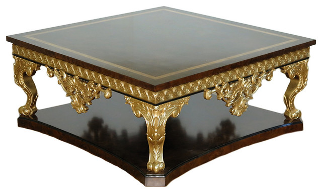 Mbw Furniture Walnut Amp Gold French Style Ornate Inlaid