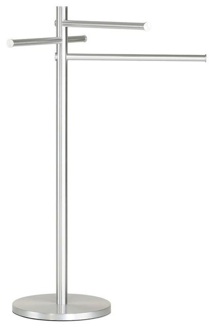 Emmi Contemporary Aluminum Sliding 3 Tier Towel Holder Stand ...