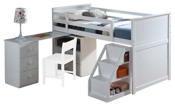 Wyatt loft bed with chest swivel desk and contemporary loft beds