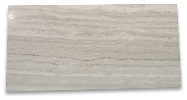 "3""x6"" White Wood Grain Marble Subway Tile, Polished, Set Of 1600."