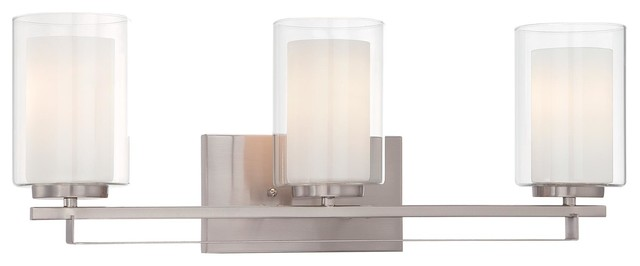 Parsons Studio By Minka-Lavery Bathroom Vanity Light, Brushed Nickel, 3-Light.