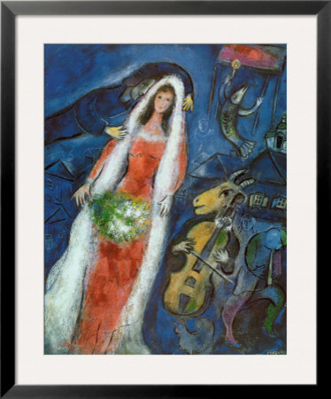 la mariee by marc chagall contemporary prints and posters