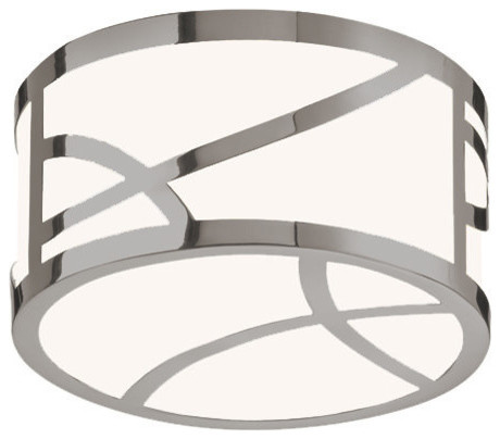 Sonneman 2536 Haiku LED Flushmount Ceiling Fixture with White Glass Shade