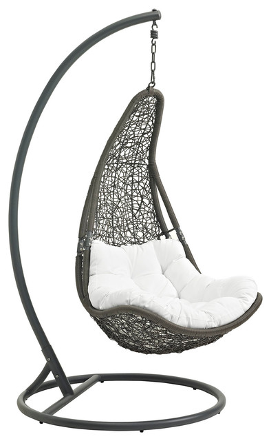 patio swing chair with stand tropical hammocks and swing chairs by modern furniture. Black Bedroom Furniture Sets. Home Design Ideas