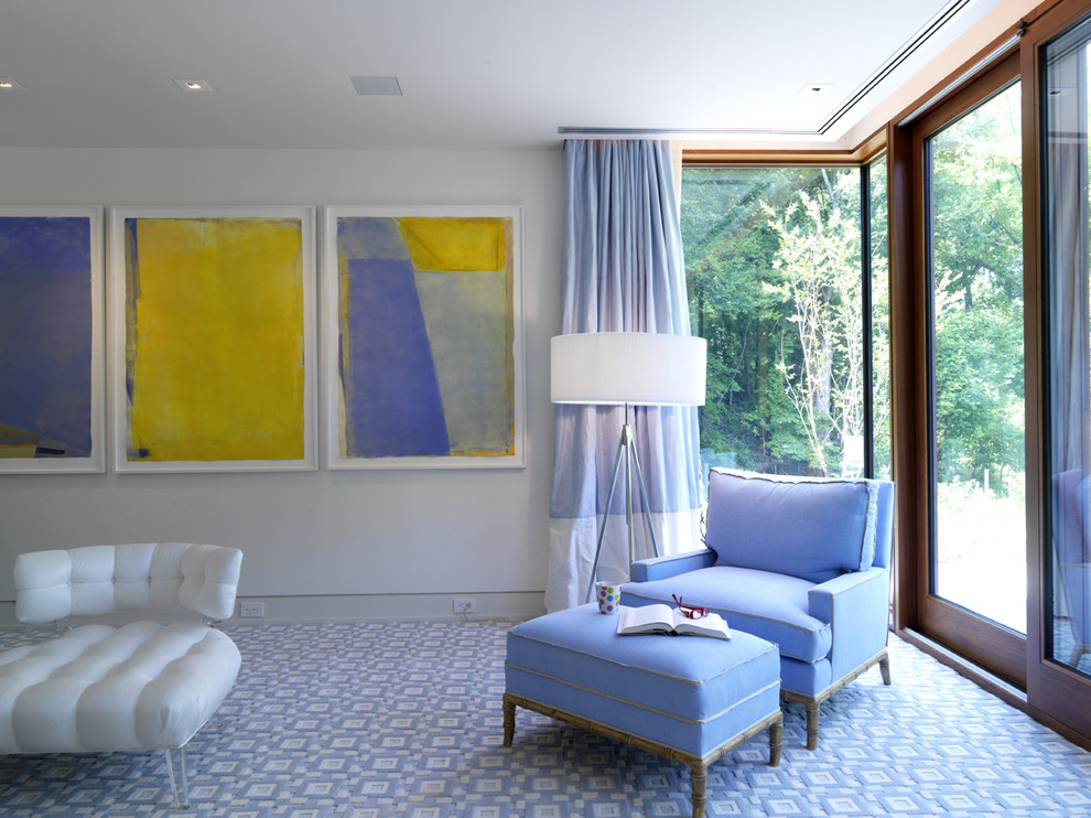 Example of a trendy home design design in Baltimore