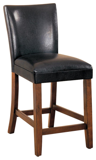 Brilliant Coaster Telegraph 24 Faux Leather Bar Stool Set Of 2 Black Theyellowbook Wood Chair Design Ideas Theyellowbookinfo