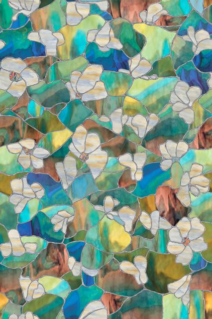 "Artscape Mountain Blossom Window Film 24""x36""."