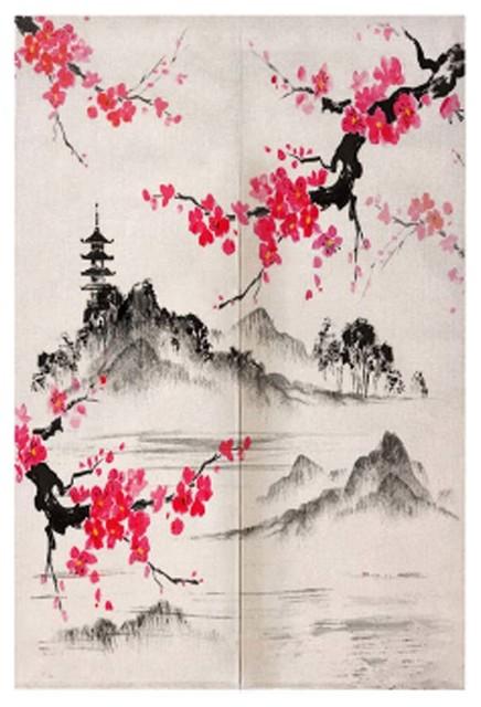 Doorway Japanese Noren Bedroom Curtain, #12 Asian Shower Curtains