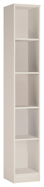 For You Tall Narrow Bookcase, Pearl White