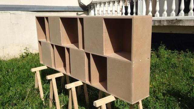 meuble en m dium sur mesure garde corps contemporain. Black Bedroom Furniture Sets. Home Design Ideas