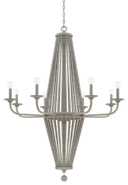 Capital Lighting Kima 8-Light Chandelier 428081PG, Paris Grey