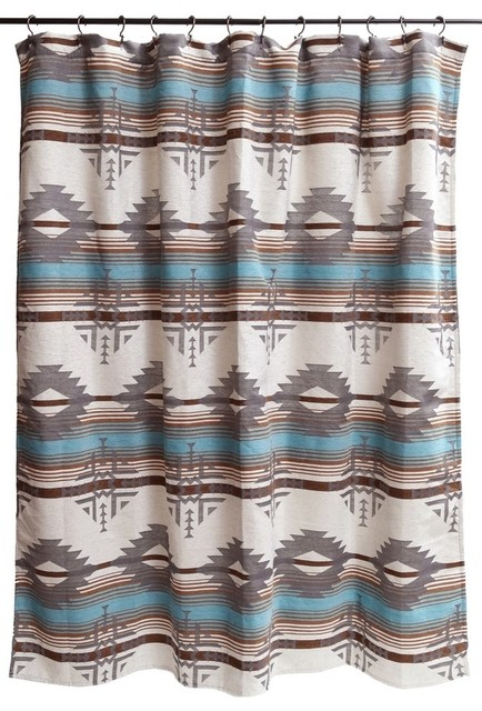 Badlands Southwest Striped Shower Curtain Southwestern