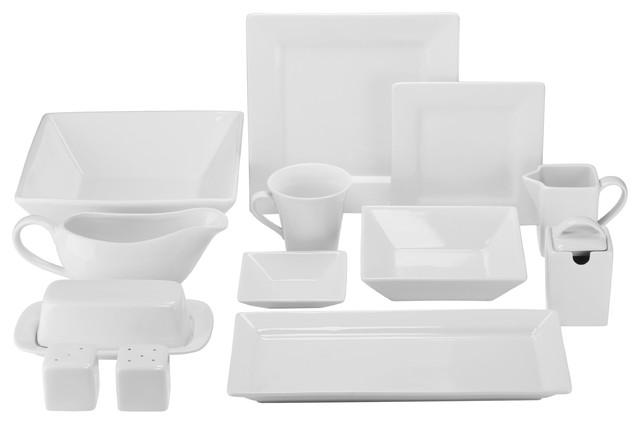 Nova 40-Piece Dinnerware Set - Contemporary - Dinnerware Sets - by ...