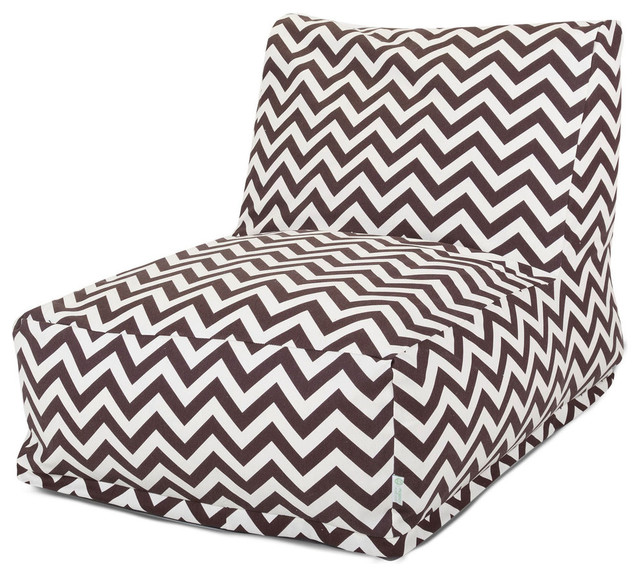 Tremendous Outdoor Chocolate Chevron Bean Bag Chair Lounger Machost Co Dining Chair Design Ideas Machostcouk