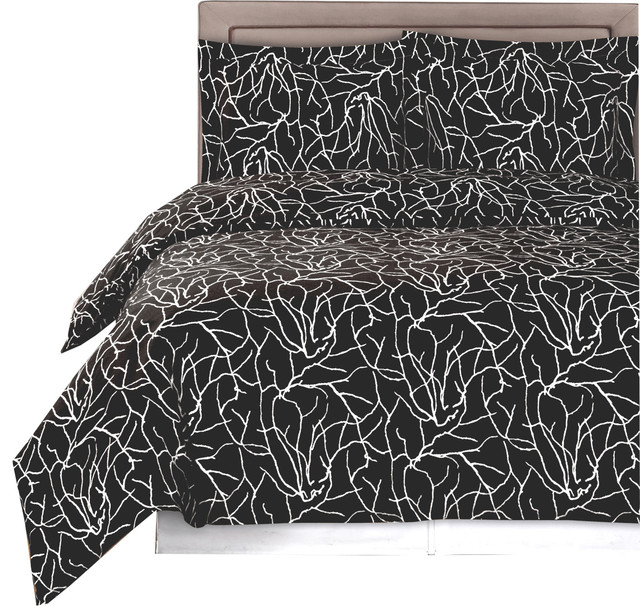 Ema Printed 100 Cotton Duvet Cover Set 250 Thread Count