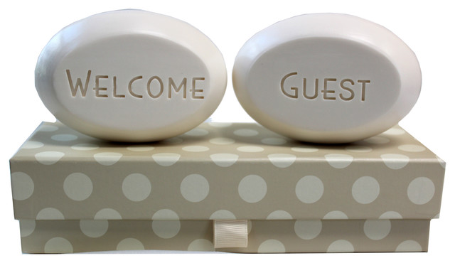 """Welcome"" and ""Guest"" Soap Bars, Bamboo Birch"