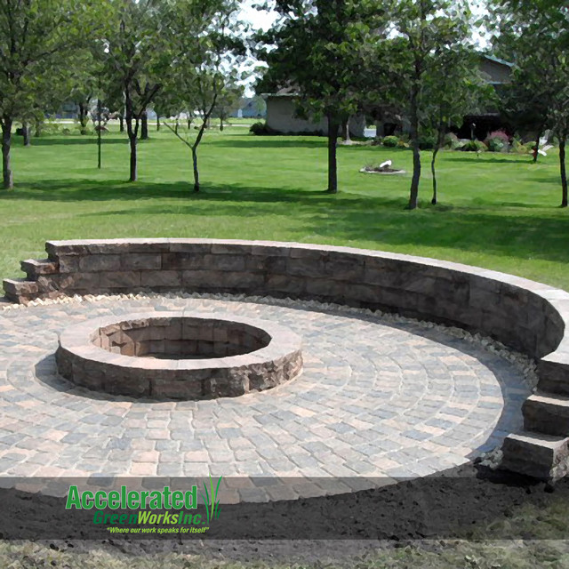 fire pit design ideas traditional patio - Fire Pit Design Ideas