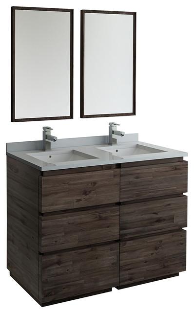 Terrific Formosa Floor Standing Double Sink Modern Bathroom Vanity With Mirrors 48 Download Free Architecture Designs Xoliawazosbritishbridgeorg