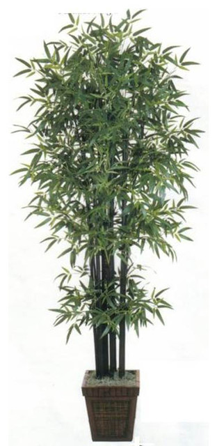 Foot Black Bamboo Tree Asian Artificial Flowers Plants