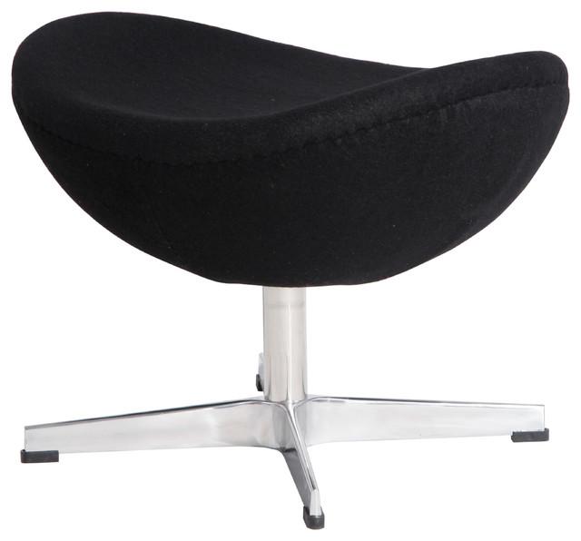 High Quality Egg Chairu0027s Ottoman, Black, Material: Wool