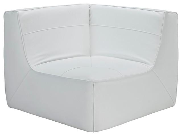 Astounding Align Bonded Leather Corner Sofa White Beatyapartments Chair Design Images Beatyapartmentscom
